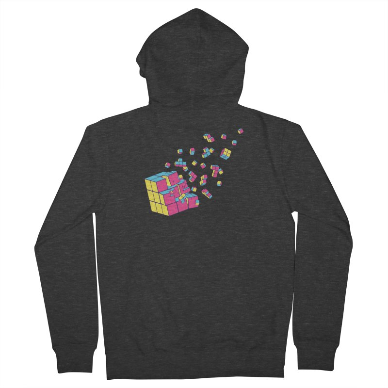 Rubixplosion II Men's French Terry Zip-Up Hoody by Cedric Lopez Fernandez