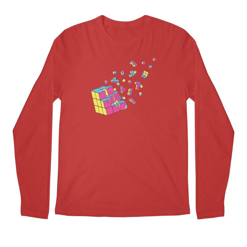 Rubixplosion II Men's Regular Longsleeve T-Shirt by Cedric Lopez Fernandez