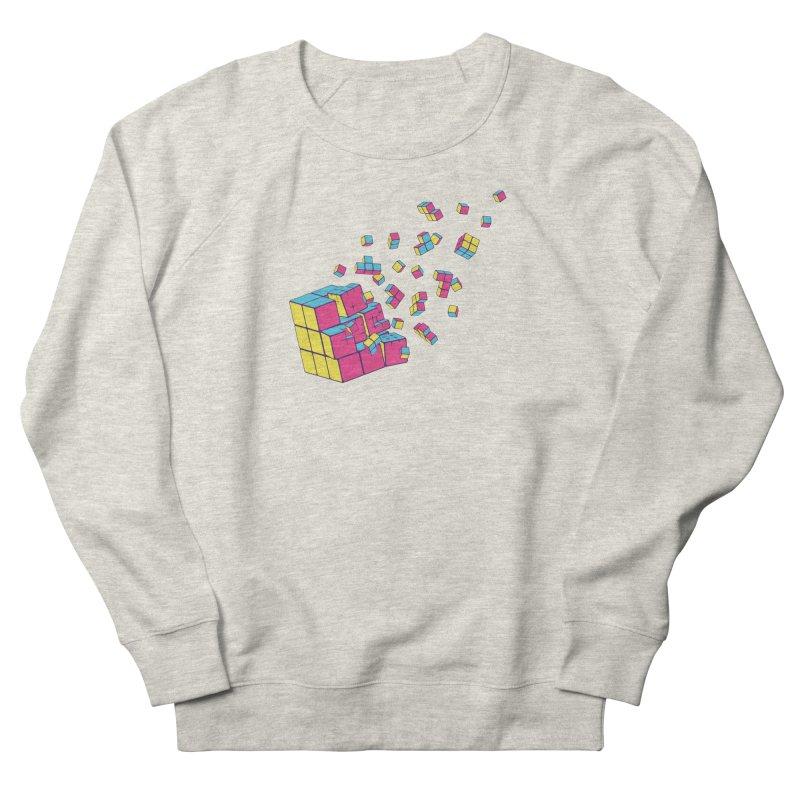 Rubixplosion II Women's French Terry Sweatshirt by Cedric Lopez Fernandez