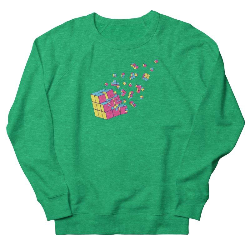 Rubixplosion II Men's French Terry Sweatshirt by Cedric Lopez Fernandez