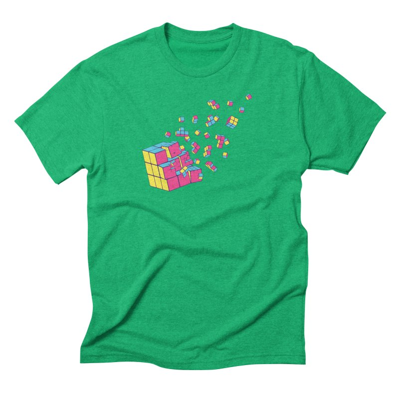 Rubixplosion II Men's Triblend T-Shirt by Cedric Lopez Fernandez