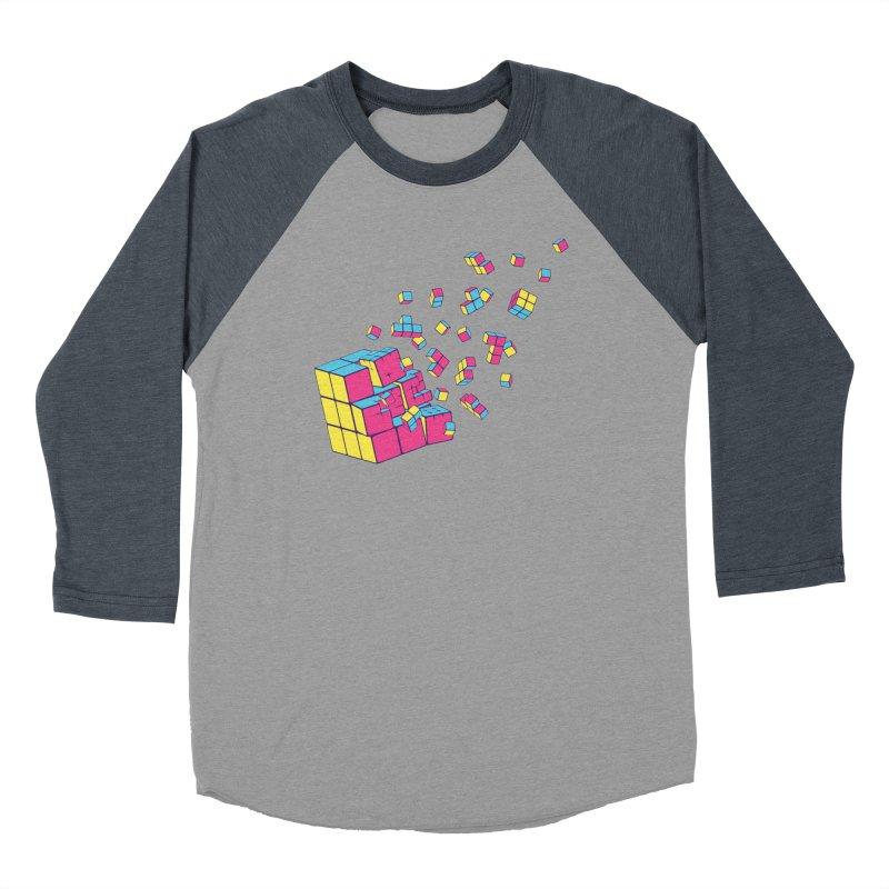Rubixplosion II Men's Baseball Triblend Longsleeve T-Shirt by Cedric Lopez Fernandez