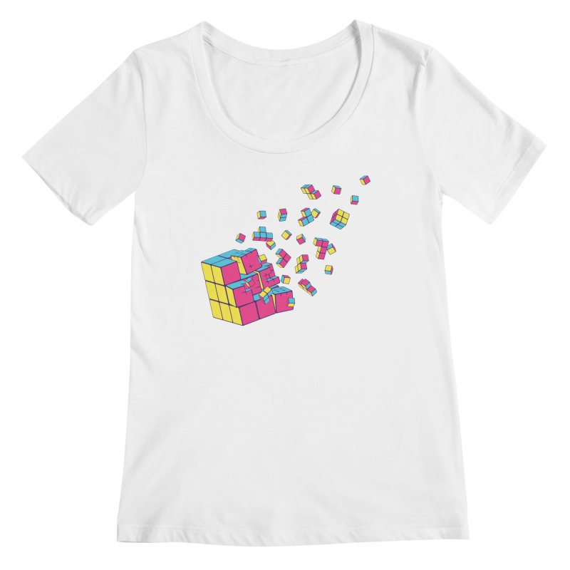 Rubixplosion II Women's Regular Scoop Neck by Cedric Lopez Fernandez