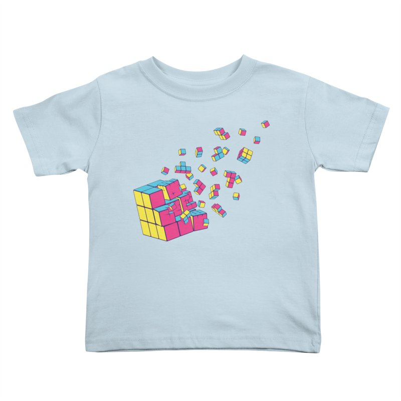 Rubixplosion II Kids Toddler T-Shirt by Cedric Lopez Fernandez