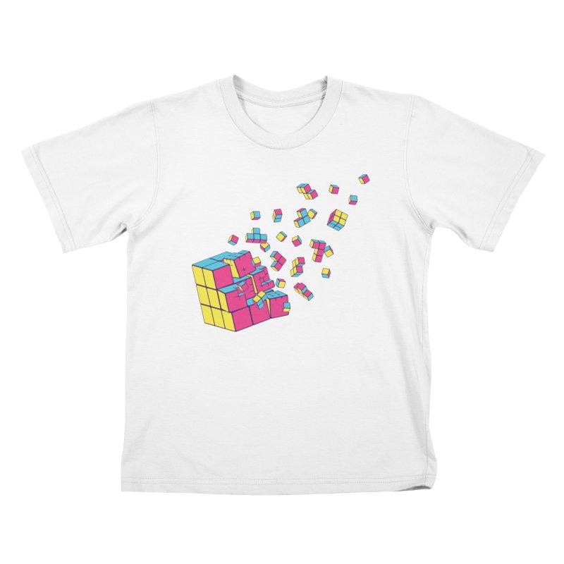 Rubixplosion II Kids T-Shirt by Cedric Lopez Fernandez