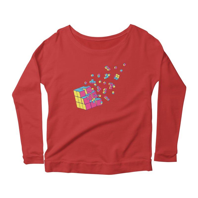 Rubixplosion II Women's Scoop Neck Longsleeve T-Shirt by Cedric Lopez Fernandez