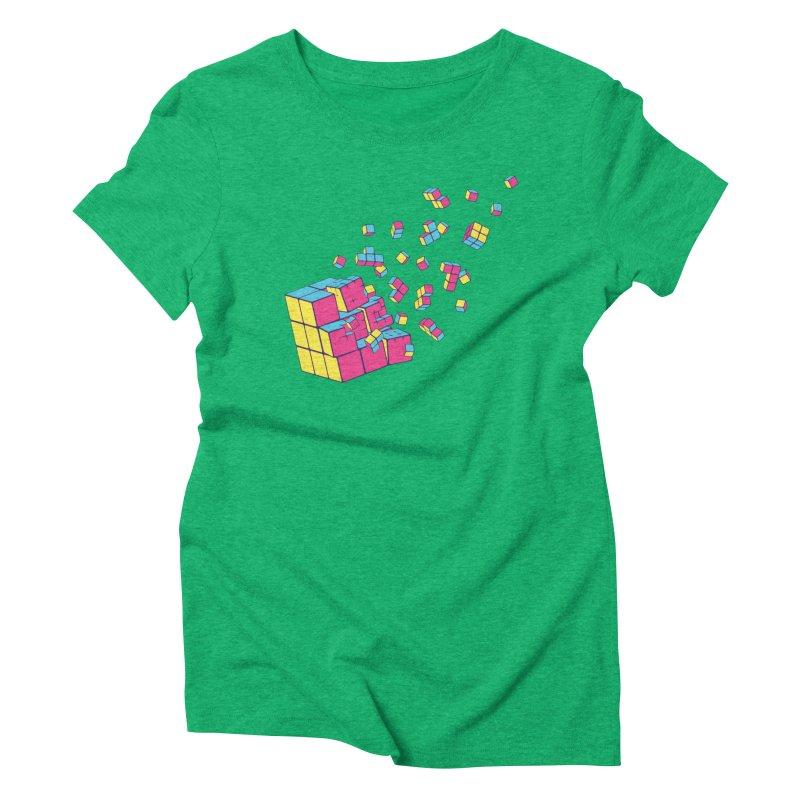 Rubixplosion II Women's Triblend T-Shirt by Cedric Lopez Fernandez