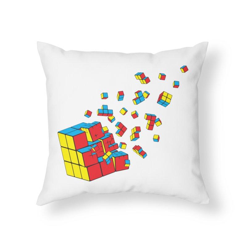 Rubixplosion I Home Throw Pillow by Cedric Lopez Fernandez