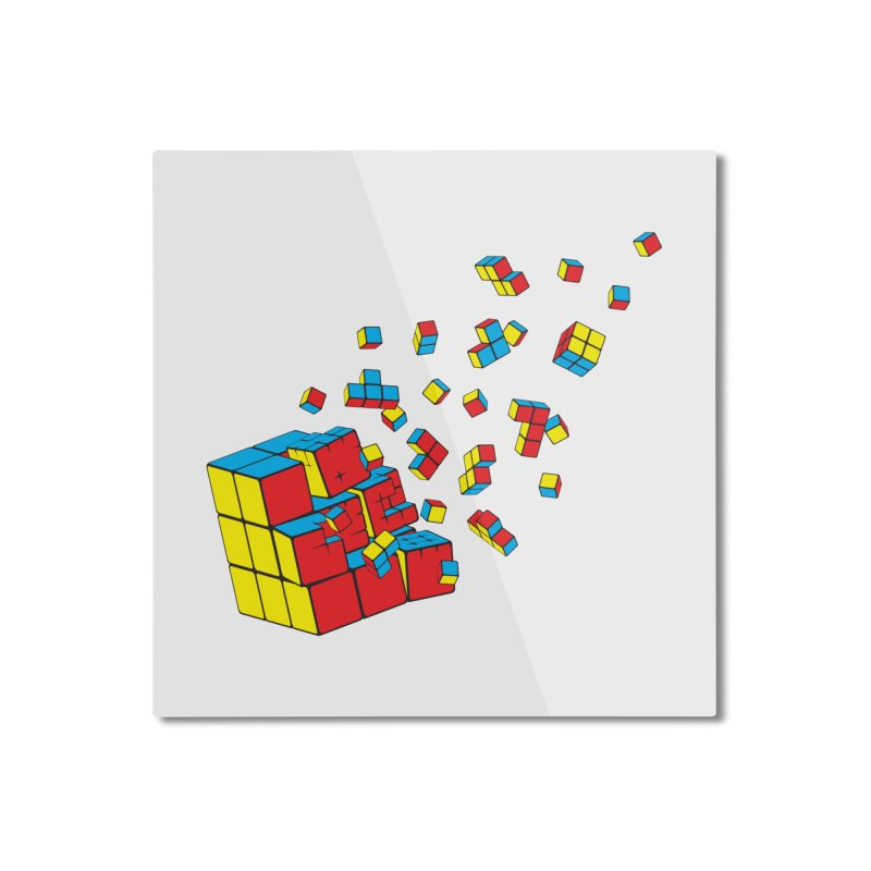 Rubixplosion I Home Mounted Aluminum Print by Cedric Lopez Fernandez
