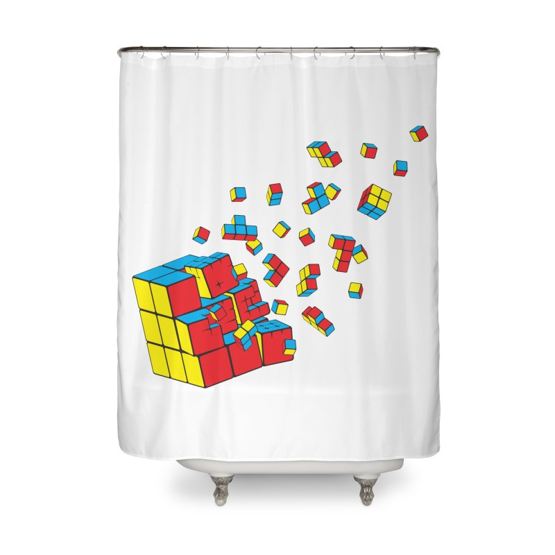 Rubixplosion I Home Shower Curtain by Cedric Lopez Fernandez