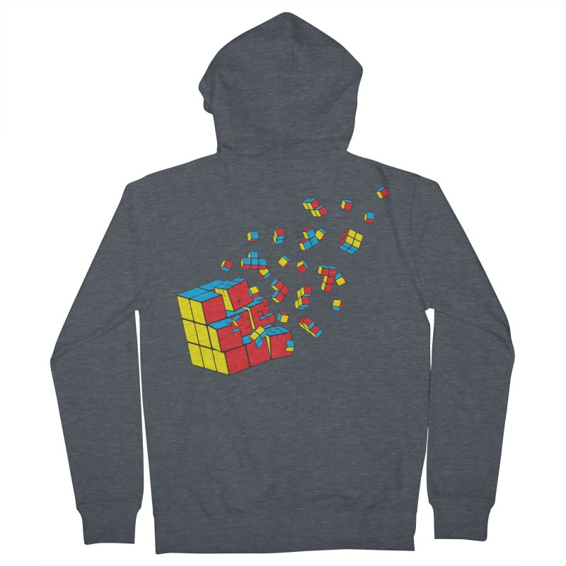 Rubixplosion I Women's Zip-Up Hoody by Cedric Lopez Fernandez