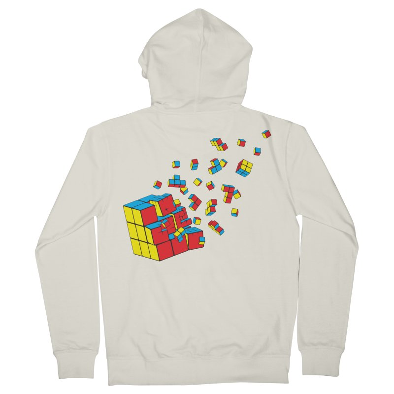 Rubixplosion I Men's Zip-Up Hoody by Cedric Lopez Fernandez