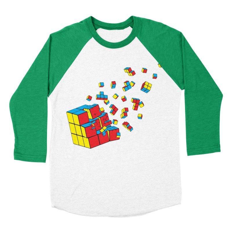 Rubixplosion I Women's Baseball Triblend T-Shirt by Cedric Lopez Fernandez