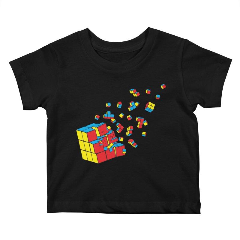 Rubixplosion I Kids Baby T-Shirt by Cedric Lopez Fernandez