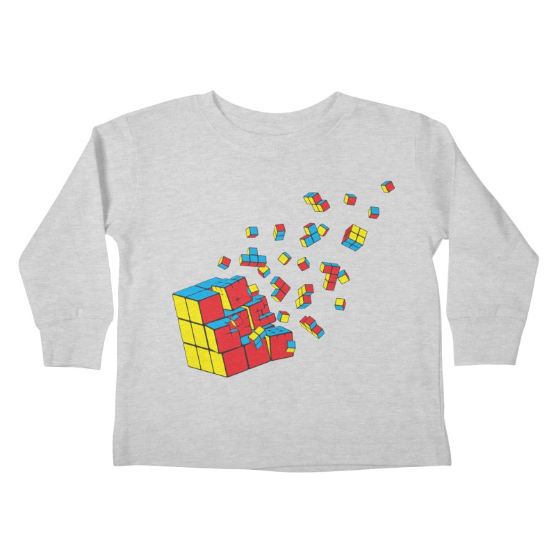 Rubixplosion I Kids Toddler Longsleeve T-Shirt by Cedric Lopez Fernandez