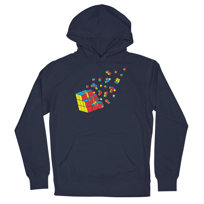 Rubixplosion I Women's French Terry Pullover Hoody by Cedric Lopez Fernandez