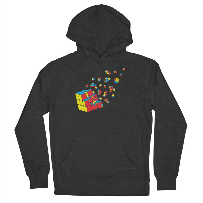 Rubixplosion I Men's French Terry Pullover Hoody by Cedric Lopez Fernandez