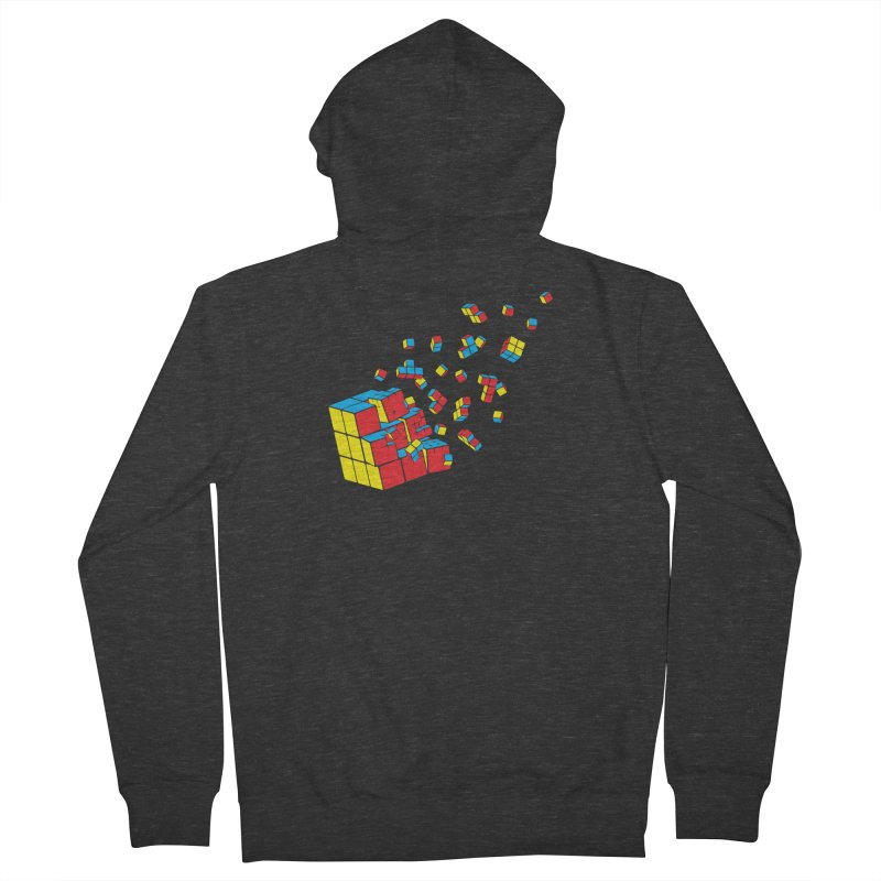 Rubixplosion I Men's French Terry Zip-Up Hoody by Cedric Lopez Fernandez