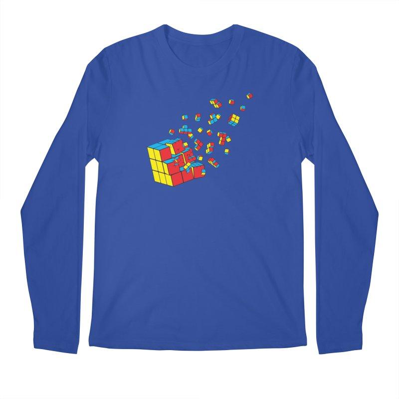 Rubixplosion I Men's Regular Longsleeve T-Shirt by Cedric Lopez Fernandez