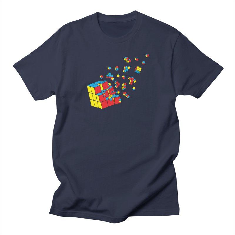 Rubixplosion I Men's Regular T-Shirt by Cedric Lopez Fernandez