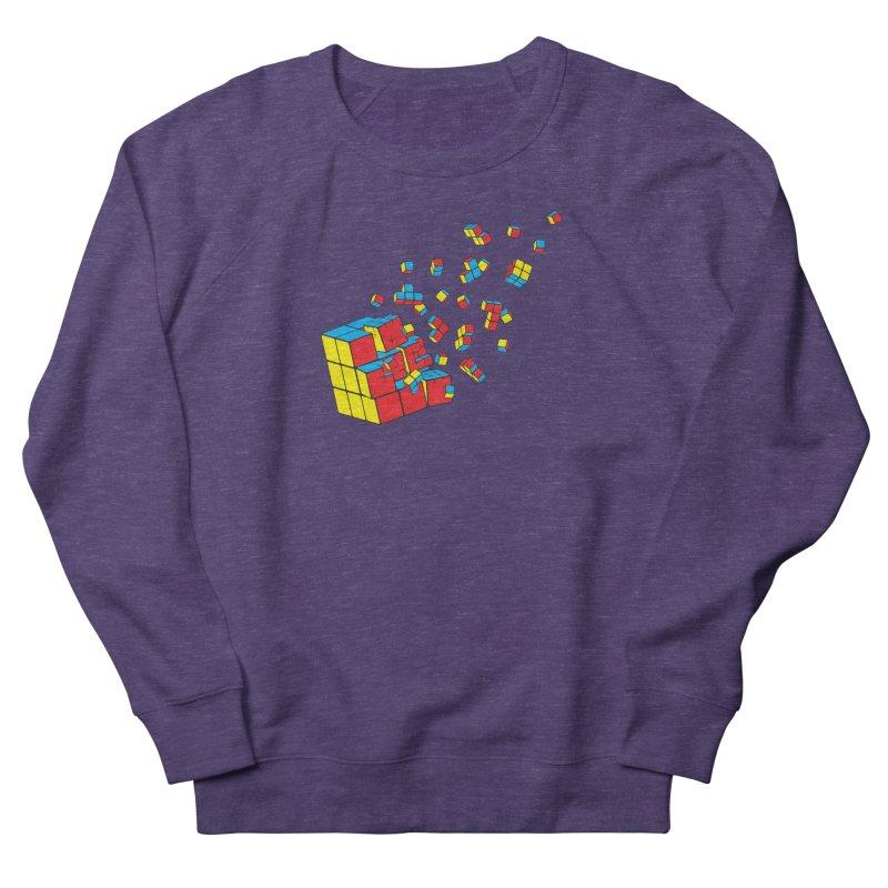 Rubixplosion I Women's French Terry Sweatshirt by Cedric Lopez Fernandez