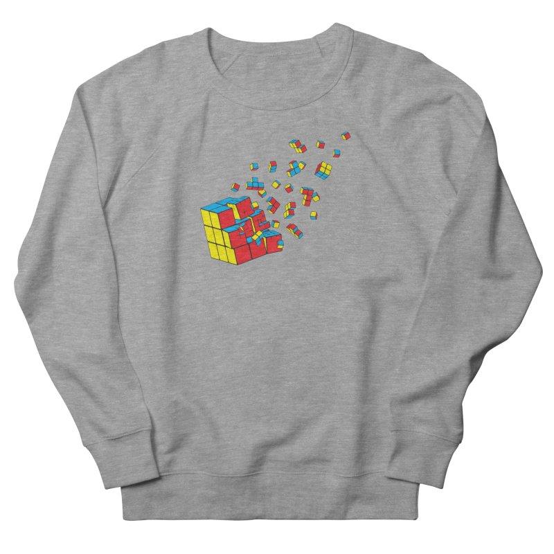 Rubixplosion I Men's French Terry Sweatshirt by Cedric Lopez Fernandez