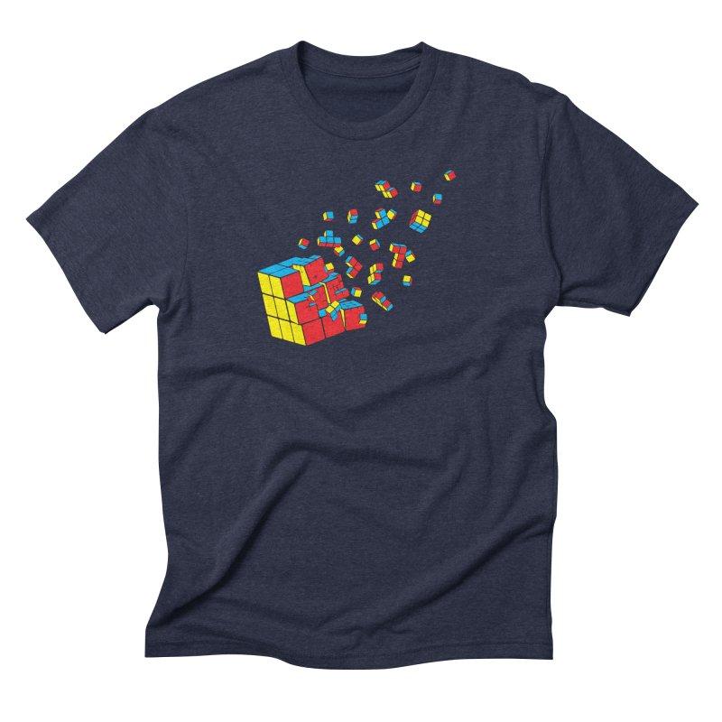 Rubixplosion I Men's Triblend T-Shirt by Cedric Lopez Fernandez
