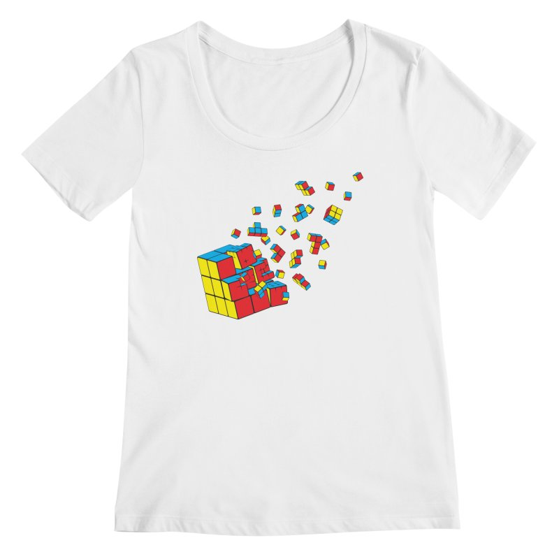 Rubixplosion I Women's Regular Scoop Neck by Cedric Lopez Fernandez