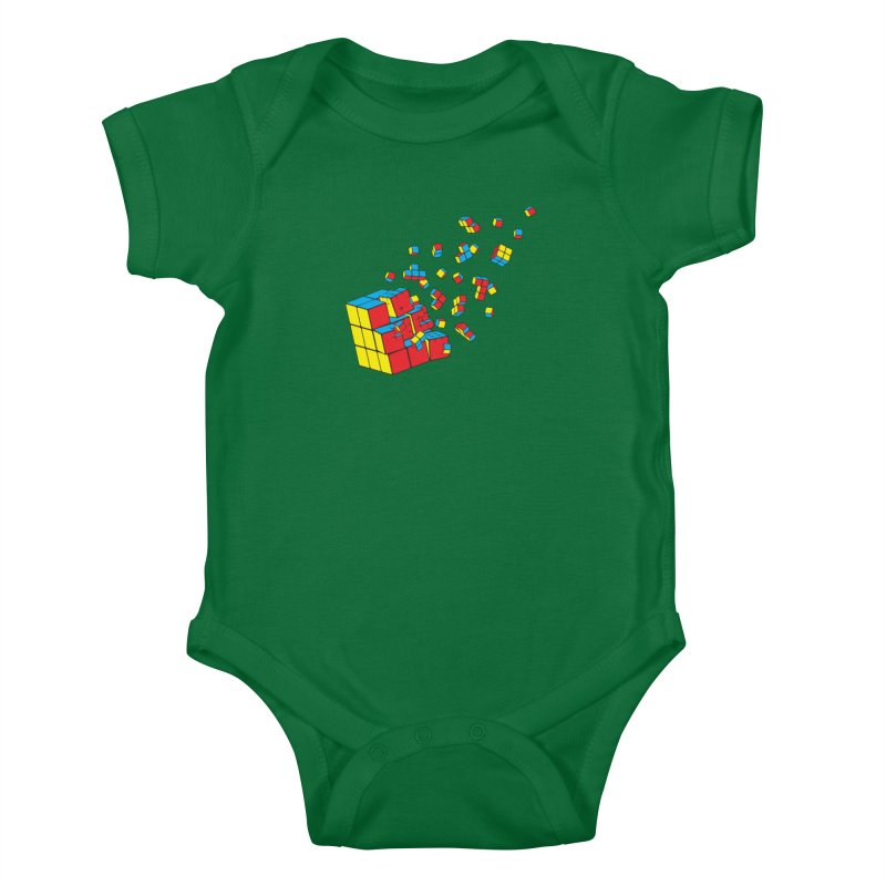 Rubixplosion I Kids Baby Bodysuit by Cedric Lopez Fernandez