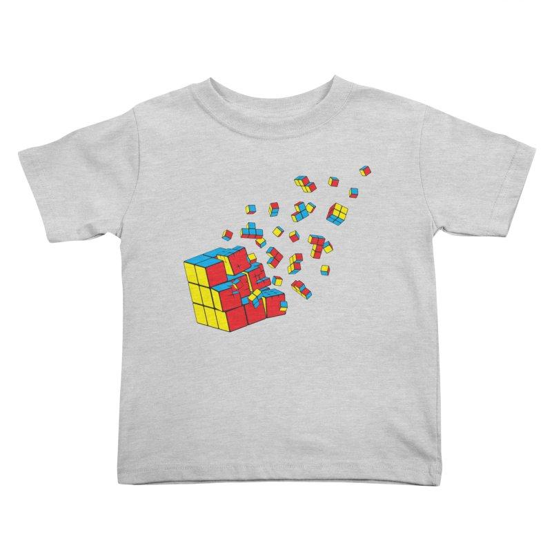 Rubixplosion I Kids Toddler T-Shirt by Cedric Lopez Fernandez