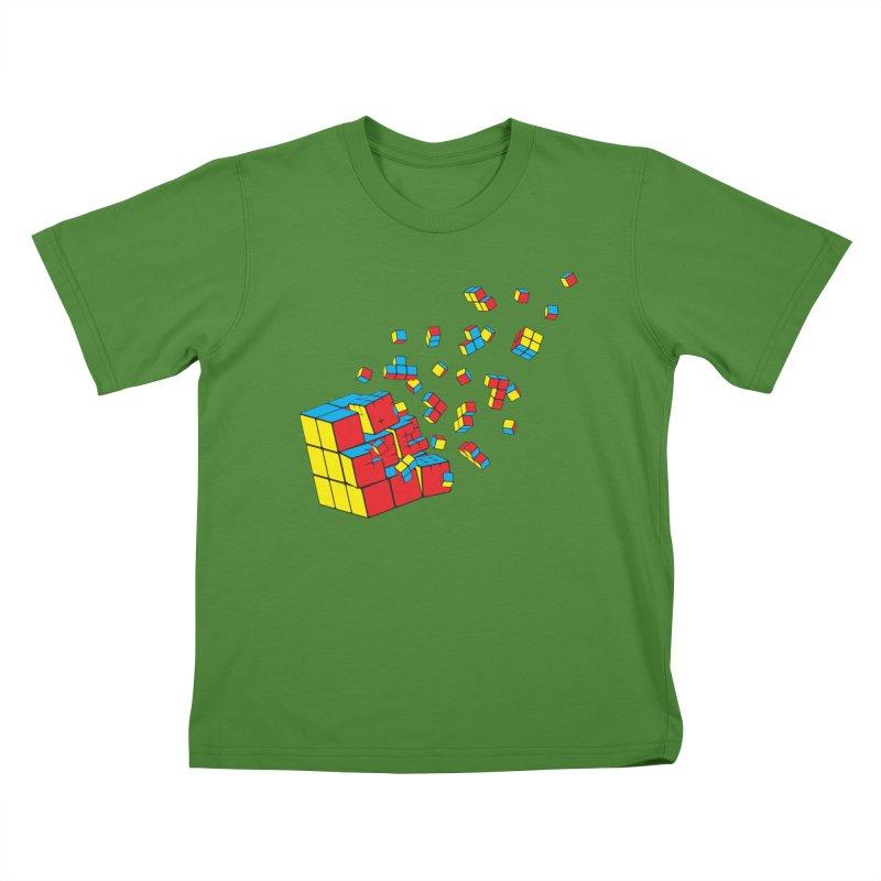 Rubixplosion I Kids T-Shirt by Cedric Lopez Fernandez