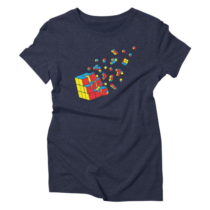Rubixplosion I Women's Triblend T-Shirt by Cedric Lopez Fernandez
