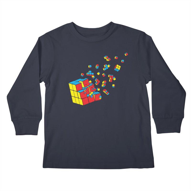 Rubixplosion I Kids Longsleeve T-Shirt by Cedric Lopez Fernandez