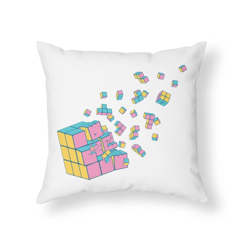 Rubixplosion III Home Throw Pillow by Cedric Lopez Fernandez