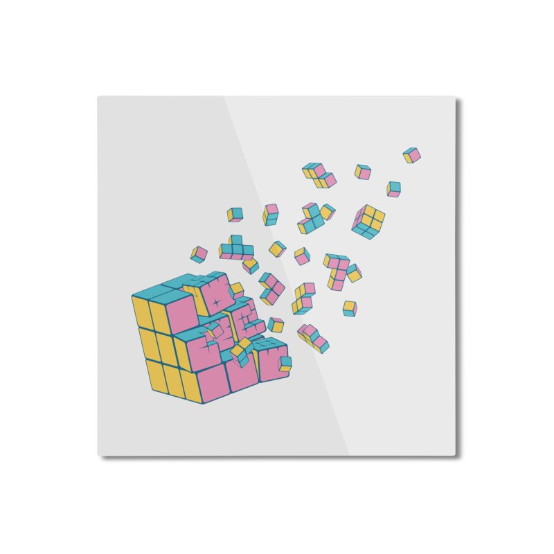 Rubixplosion III Home Mounted Aluminum Print by Cedric Lopez Fernandez