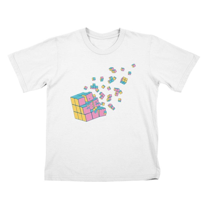 Rubixplosion III Kids T-Shirt by Cedric Lopez Fernandez