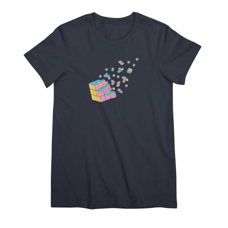 Rubixplosion III Women's Premium T-Shirt by Cedric Lopez Fernandez