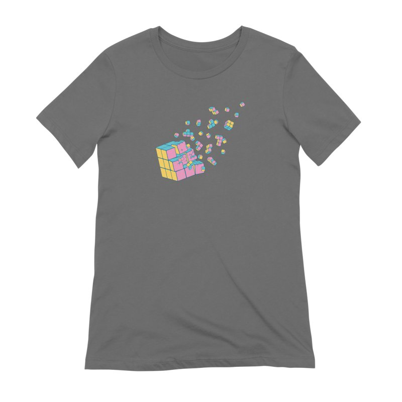 Rubixplosion III Women's Extra Soft T-Shirt by Cedric Lopez Fernandez