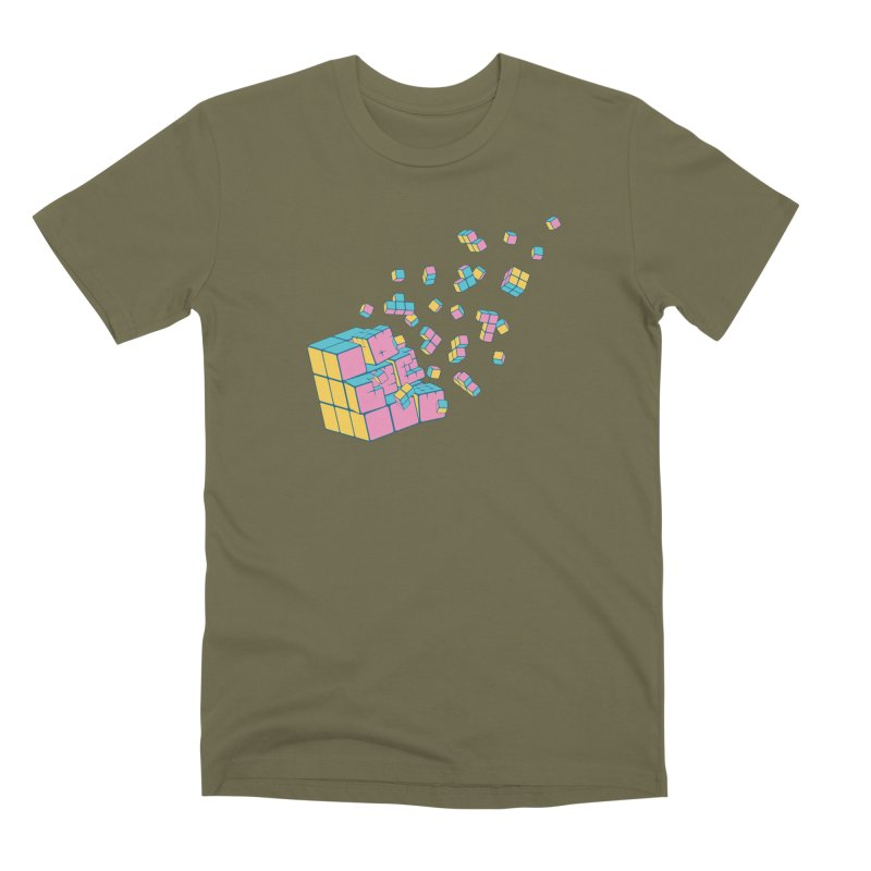 Rubixplosion III Men's Premium T-Shirt by Cedric Lopez Fernandez