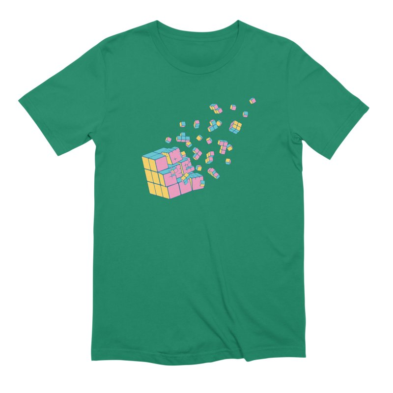 Rubixplosion III Men's Extra Soft T-Shirt by Cedric Lopez Fernandez