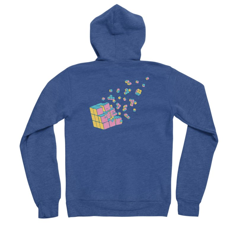 Rubixplosion III Women's Sponge Fleece Zip-Up Hoody by Cedric Lopez Fernandez