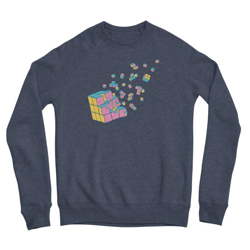 Rubixplosion III Men's Sponge Fleece Sweatshirt by Cedric Lopez Fernandez
