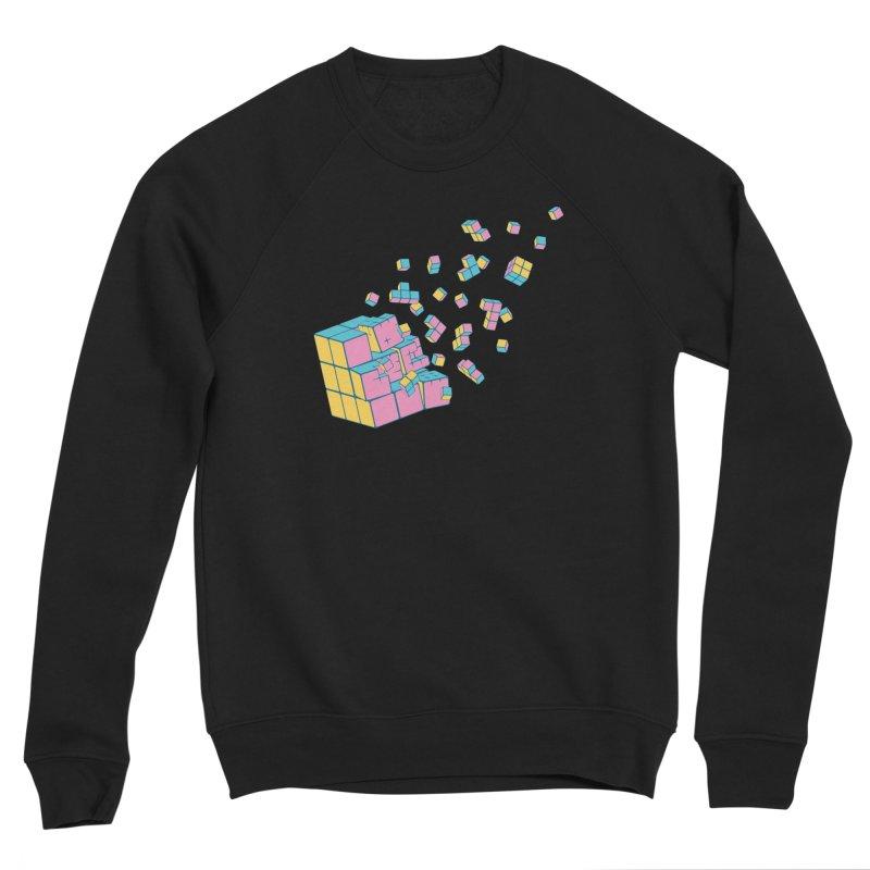 Rubixplosion III Women's Sponge Fleece Sweatshirt by Cedric Lopez Fernandez