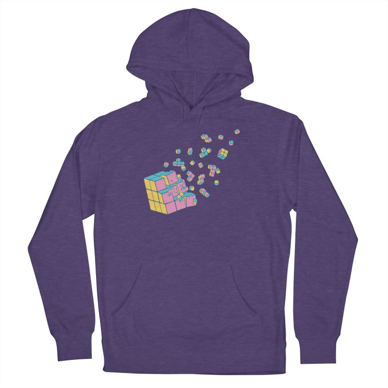 Rubixplosion III Men's French Terry Pullover Hoody by Cedric Lopez Fernandez