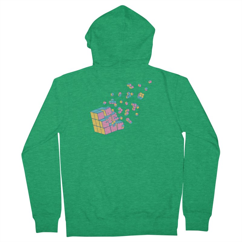 Rubixplosion III Women's French Terry Zip-Up Hoody by Cedric Lopez Fernandez