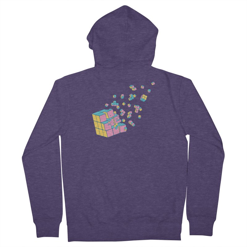Rubixplosion III Men's French Terry Zip-Up Hoody by Cedric Lopez Fernandez