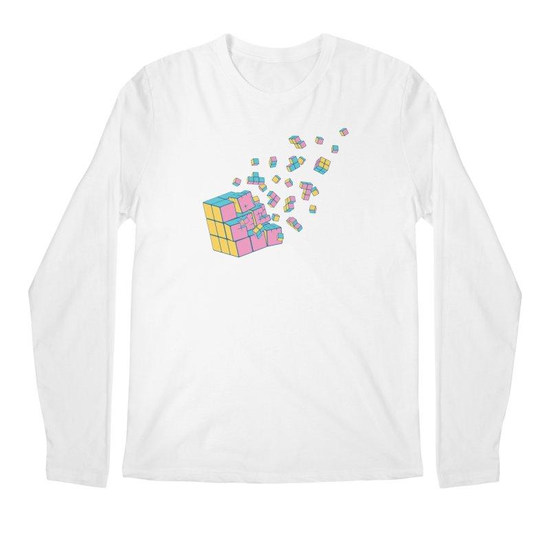 Rubixplosion III Men's Regular Longsleeve T-Shirt by Cedric Lopez Fernandez