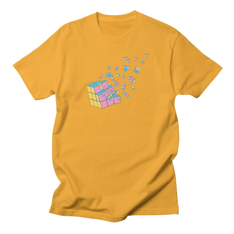 Rubixplosion III Men's Regular T-Shirt by Cedric Lopez Fernandez