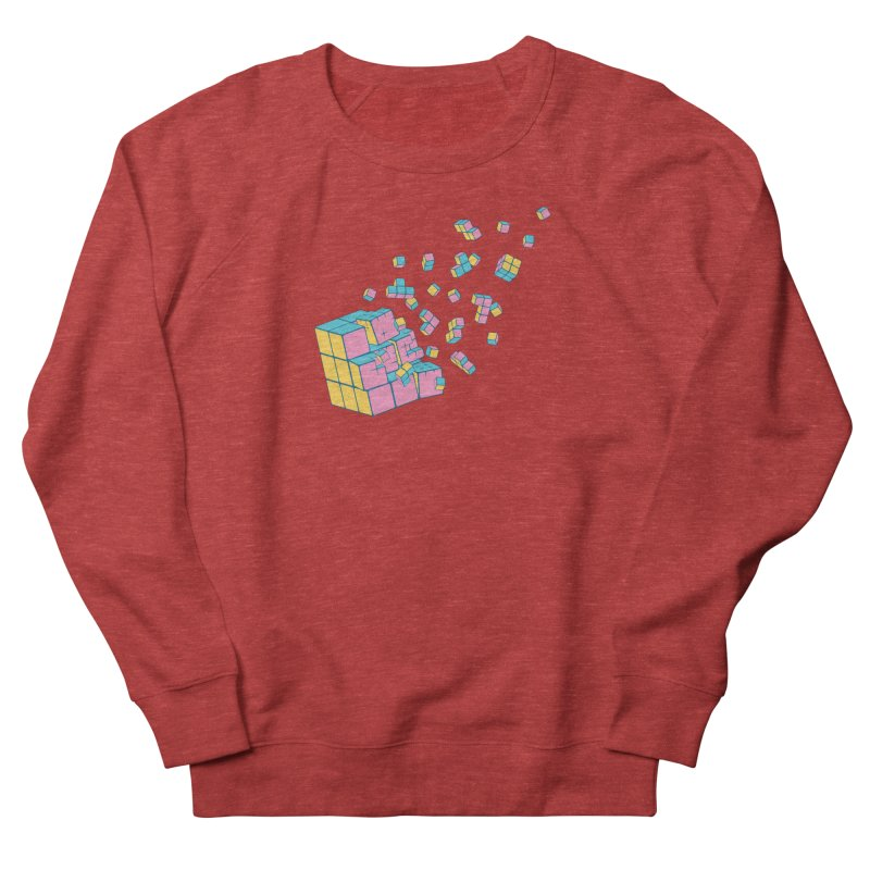 Rubixplosion III Women's French Terry Sweatshirt by Cedric Lopez Fernandez