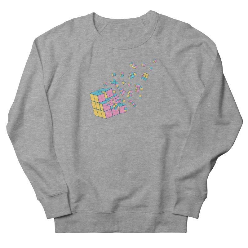 Rubixplosion III Men's French Terry Sweatshirt by Cedric Lopez Fernandez